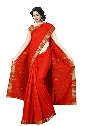 KoC Indian Traditional Ethnic Women wear Art Silk Saree -Red