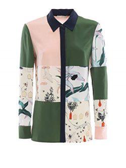 Tory Burch Women's 56830990 Green Silk Shirt