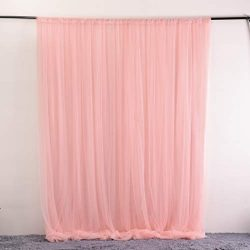 Coral Pink Tulle Backdrop Curtain for Wedding Baby Shower Decorations Photography Background Par ...