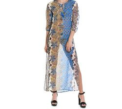 Tory Burch Women's 45948970 Multicolor Silk Dress