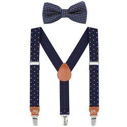 Child Kids Suspender Bowtie Sets – Y Shape Adjustable Suspender with Silk Bowties Gift Ide ...