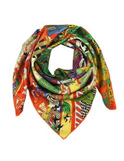 Silk Scarf Square Scarf for Hair Women-Pantonight 100% Pure Silk 14MM Hand Rolling Edge Silk Twi ...