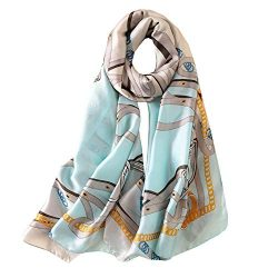 FM Womens Mulberry Silk Scarves Long Satin Lightweight Scarf For Women (aa4)