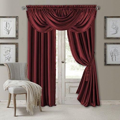 Elrene Home Fashions Versailles Faux Silk Room Darkening & Energy Efficient Lined Rod Pocket ...
