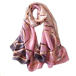 FM Womens Mulberry Silk Scarves Long Satin Lightweight Scarf For Women (aa3)