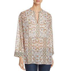 Tory Burch Womens Silk Tunic Blouse