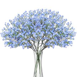 Bomarolan Artificial Baby Breath Flowers Fake Gypsophila Bouquets 12 Pcs Fake Real Touch Flowers ...
