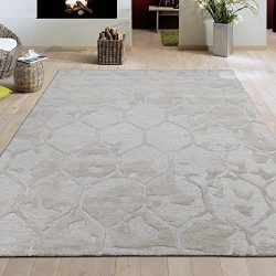 Silk Road Concepts SR-HWR131-5X7 Rugs, 5′ x 7′, Beige Honey Comb