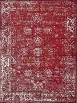 Unique Loom Sofia Collection Traditional Vintage Burgundy Area Rug (9′ x 12′)