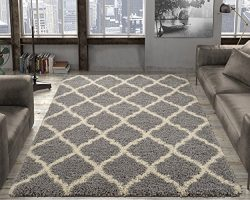 Silk Road Concepts SR-COZY2273-5X7 Collection Moroccan Rugs, 5'3″ x 7′, Gray
