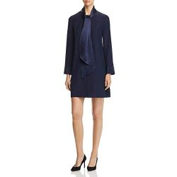 Tory Burch Womens Silk Neck Tie Cocktail Dress
