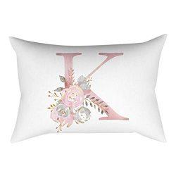 HOSOME 30×50 cm Kinder Zimmer Dekoration Brief Kissen Englisch Alphabet Pillowcases