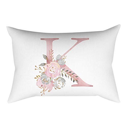HOSOME 30×50 cm Kinder Zimmer Dekoration Brief Kissen Englisch Alphabet Pillowcases