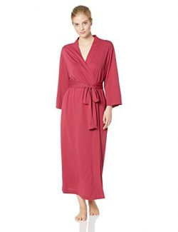 Natori Women's Shangri-la Solid Knit Robe, Ruby, L