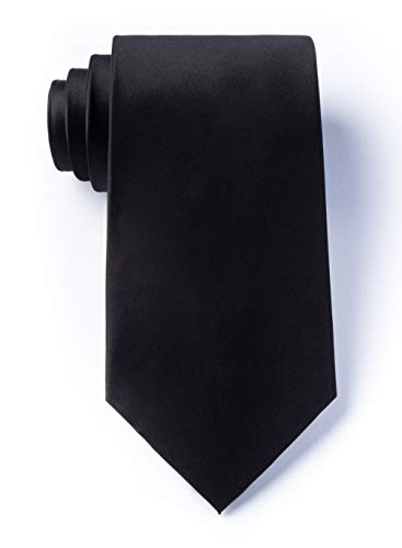 The Essential Black Silk Tie