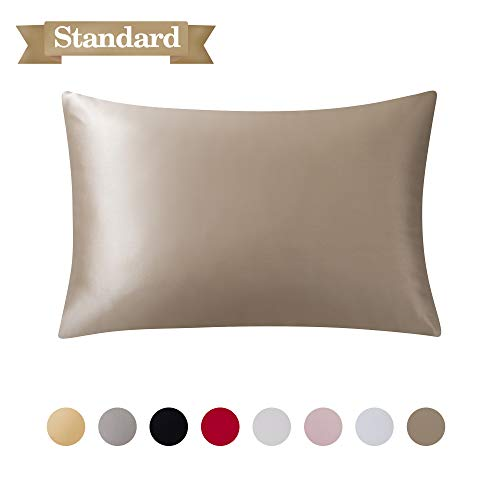 SARAFLORA 100% Pure Mulberry Silk Pillowcase for Hair and Skin – Super Soft and Smooth Rea ...