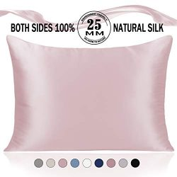 Adubor Silk Pillowcase for Hair and Skin 25 Momme 100% Natural Mulberry Silk Pillow Covers Queen ...