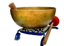10″ Hand Hammered Tibetan Singing Bowl for Master Chakra Healing, Yoga, Meditation, Sound  ...