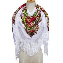 YABINA (TM) Women's Silk Scarf Luxury Satin Shawl Wraps (D)