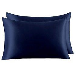 YANIBEST Pillow Cases 2 Pack 100% Mulberry Silk Pillowcase for Hair and Skin with Hidden Zipper  ...