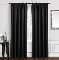 Dreaming Casa Solid Blackout Curtain for Bedroom 96 Inches Long Draperies Window Treatment 2 Pan ...