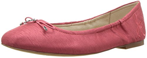 Sam Edelman Women's Felicia, Hot Coral Silk Dupioni, 7 M US