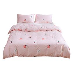 XGao@ Premium Bed Sheets Set 3 Piece Bedding Sets 1 Quilt Cover 2 Pillowcases Comforter Set Soli ...
