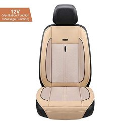 Luerme Car Seat Cooler Cooling Car Seat Cushion with Massage Ice Silk Air Conditioning Refrigera ...