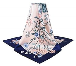 corciova 14 Timmy 35″ Large Women's 100% Real Silk Square Hair Scarf Wrap Headscarf  ...