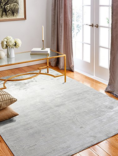 Bashian radiance collection WZ hand loomed 100% banana silk area rug, 7.9′ x 9.9′, O ...