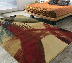 Silk Road Concepts SR-EL5012-5X7 Collection Abstract Rugs, 5'3″ x 7'3″,  ...