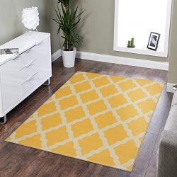 Silk Road Concepts SR-PNK7021-3X5 Collection Contemporary Rugs, 3'3″ x 5′, Yellow