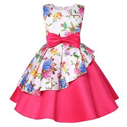 Silk Satin Dress for Girls Size 12 Girls Dresses Special Occasion Dresses for Girls Knee Wedding ...