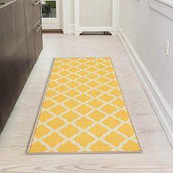 Silk Road Concepts Bath Rug, 20″ x 59″, Yellow