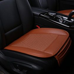 Suninbox Car Seat Covers,Ice Silk Car Seat Cushion Covers Pad Mat[carbonized Leather] Ventilated ...