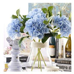 Furnily 3 Bouquets Bulk Hydrangea Artificial Flower Fake Flower for Decoration Silk Realistic Ar ...