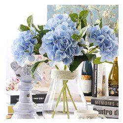 Furnily 3 Bouquets Bulk Hydrangea Artificial Flower Fake Flower for Decoration Silk Realistic Ar ...