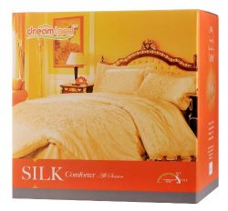 Dreamland Comfort All Natural Mulberry Silk Comforter for All Seasons, Pink Twin size