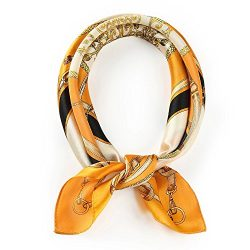 "ANDANTINO 100% Pure Mulberry Silk Small Square Scarf -21""21""- Breathable Lightweight ..."