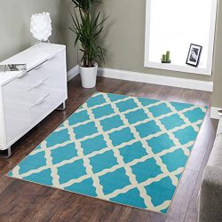 Silk Road Concepts SR-PNK7026-3X5 Collection Contemporary Rugs, 3'3″ x 5′, Blue
