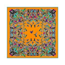 Womens Extra Large Scarf Silk Square Scarf Neckerchief Blanket Scarf Shawl Wraps 51×51 Inch ...