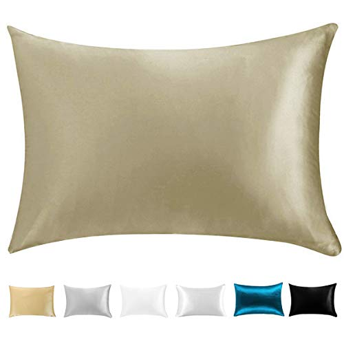 Wonwo Silk Pillowcase, 100% Natural Mulberry Queen Size Bed Pillow case for Hair and Skin with H ...