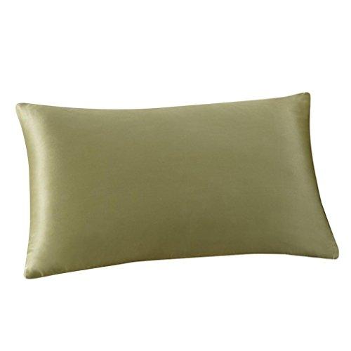 Bokeley Pillow Case, Silk Rectangle Solid Decorative Throw Pillow Case Bed Home Decor Car Sofa W ...