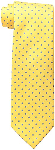Tommy Hilfiger Men's Dot Print Tie, Yellow, One Size