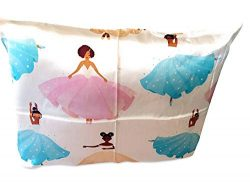 Silk Pillowcase Black Ballerina (100% Organic) for Children, Black Afro Natural Hair Design, Hyp ...