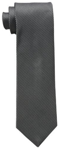 Calvin Klein Men's Steel Micro Solid B Tie, Black, One Size