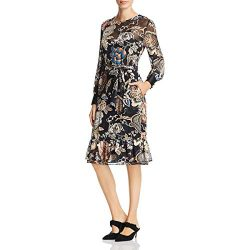 Tory Burch Womens Gwyneth Silk Blend Floral Cocktail Dress