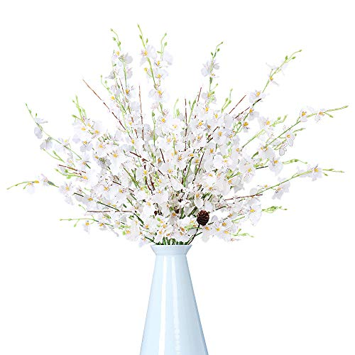 "FENGRUIL 10 Pcs Artificial Orchids Flowers, 37"" Long Stem Silk Flowers Arrangements Bouque ..."