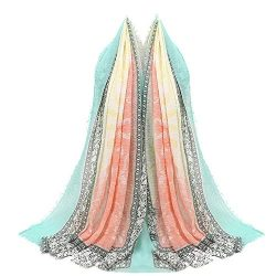 Clearance Multipurpose Shawl Scarf DEATU Women Fashion Retro Point Printed Scarf Ladies Female S ...