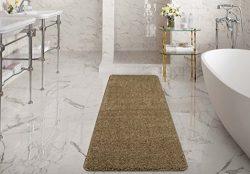Silk Road Concepts SR-LUX6001-20X59 Beige Bath Runner Rug, 20″ x 59″